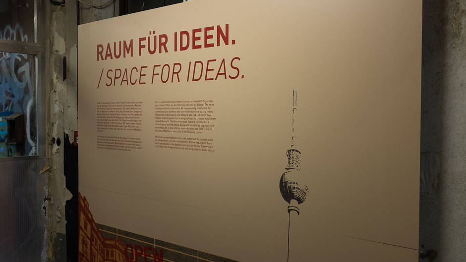 Open Innovation Space Ausstellung