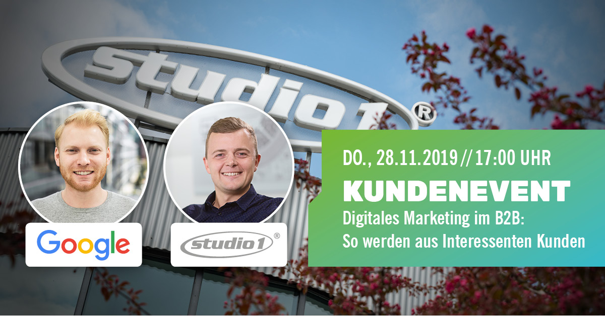 Studio1® Kundenevent 2019