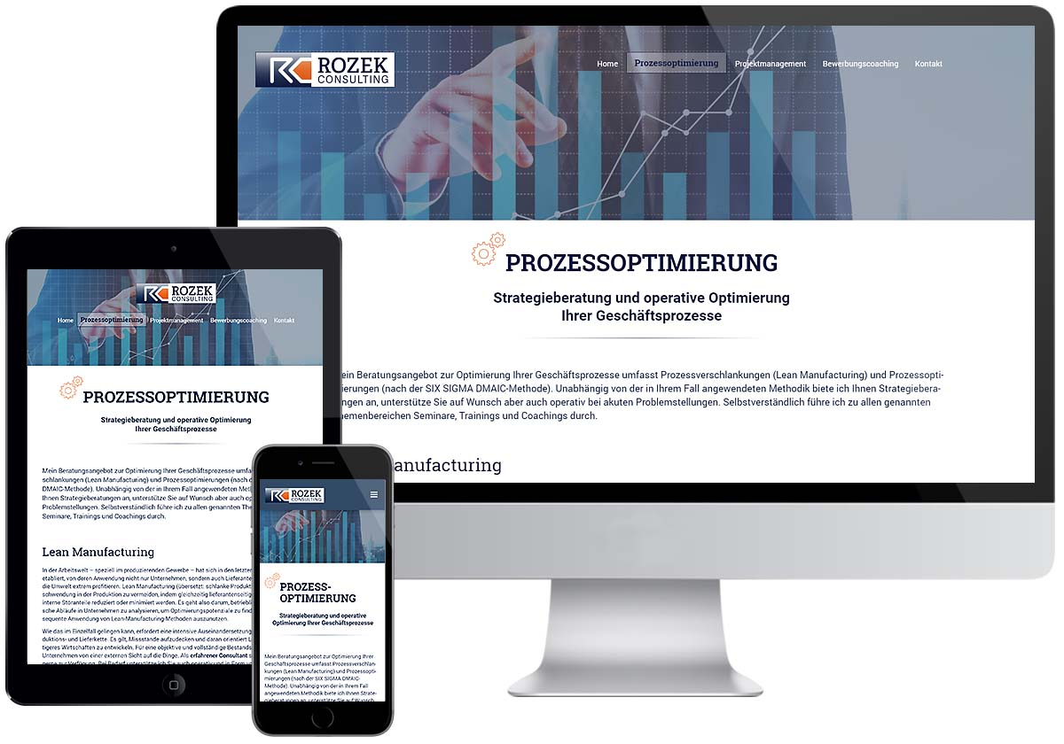 Studio1® Referenz Rozek Consulting Website
